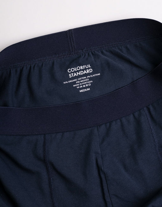ORG. BOXER BRIEF / NAVY BLUE