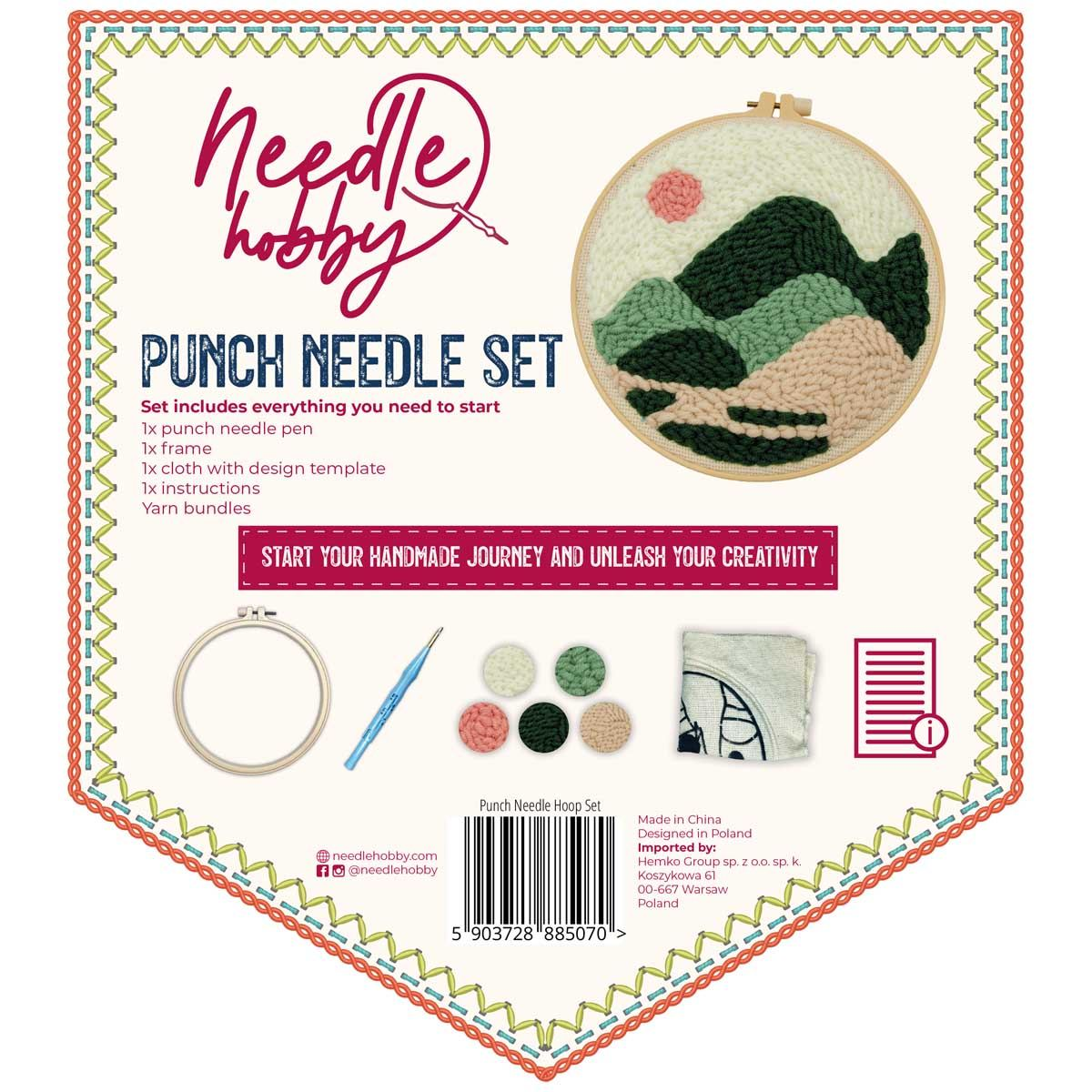 Green Highlands Punch Needle Kit