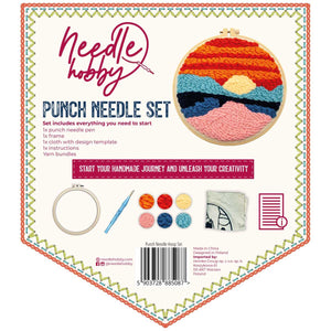 Sunset Over The Mountains Punch Needle Kit
