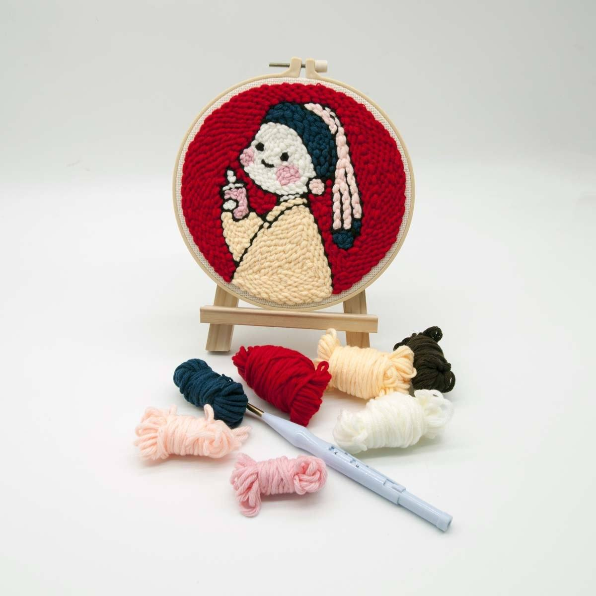 Girl With Ice Cream Punch Needle Kit