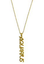 Load image into Gallery viewer, Zodiac Sign Nameplate Necklace Grande Dame