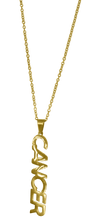 Load image into Gallery viewer, Cancer Zodiac Nameplate Necklace