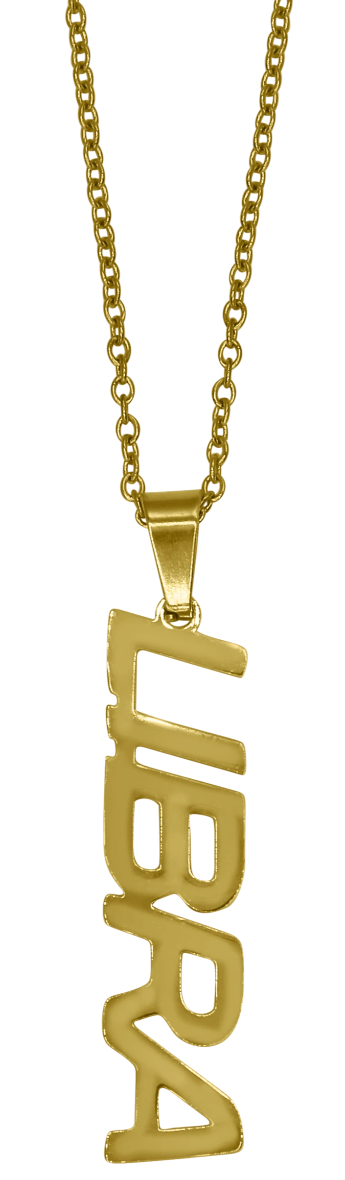 Libra Zodiac Nameplate Necklace