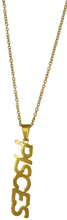 Load image into Gallery viewer, Pisces Zodiac Nameplate Necklace