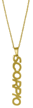Load image into Gallery viewer, Scorpio Zodiac Nameplate Necklace