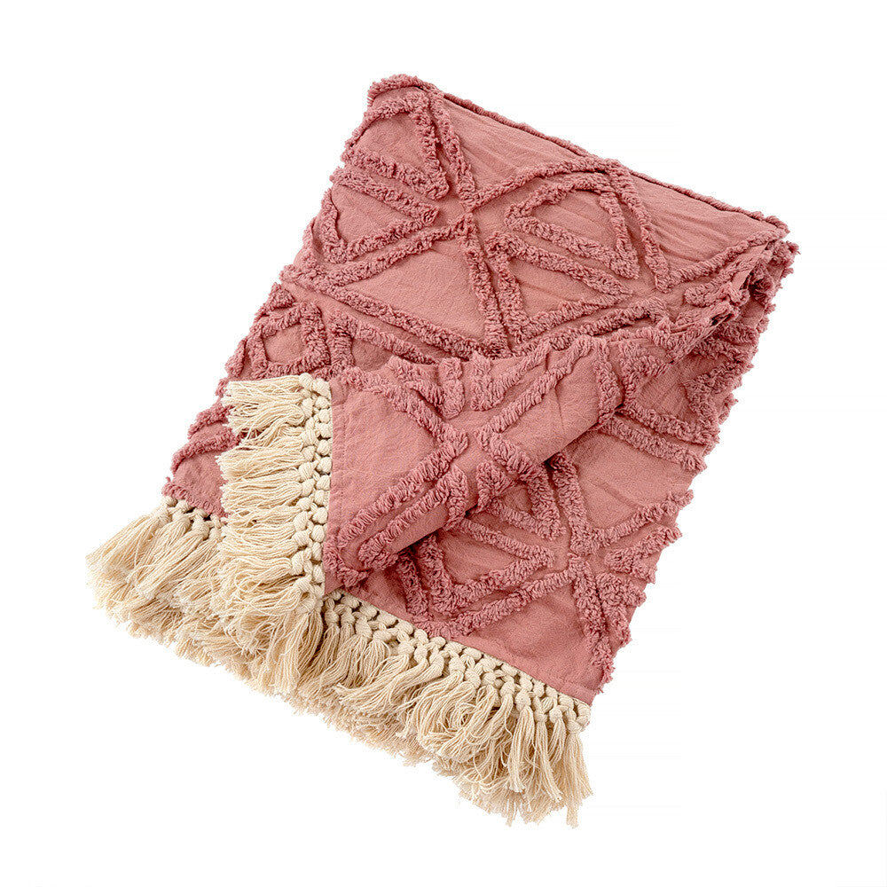 Tufted Mahla Throw - Mauve
