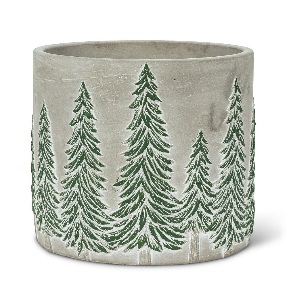 Snowy Tree Planter Large