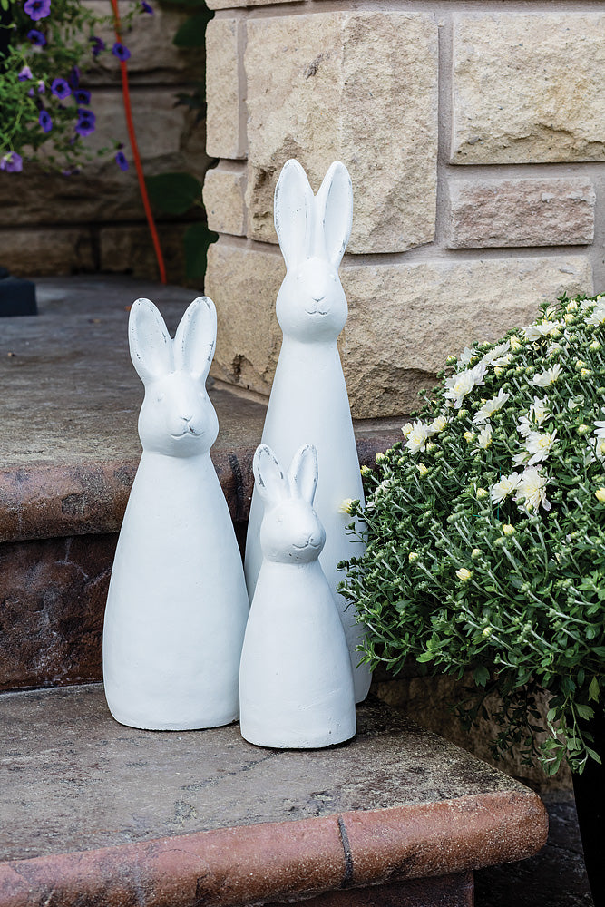 Tall Slim Chalk White Bunny