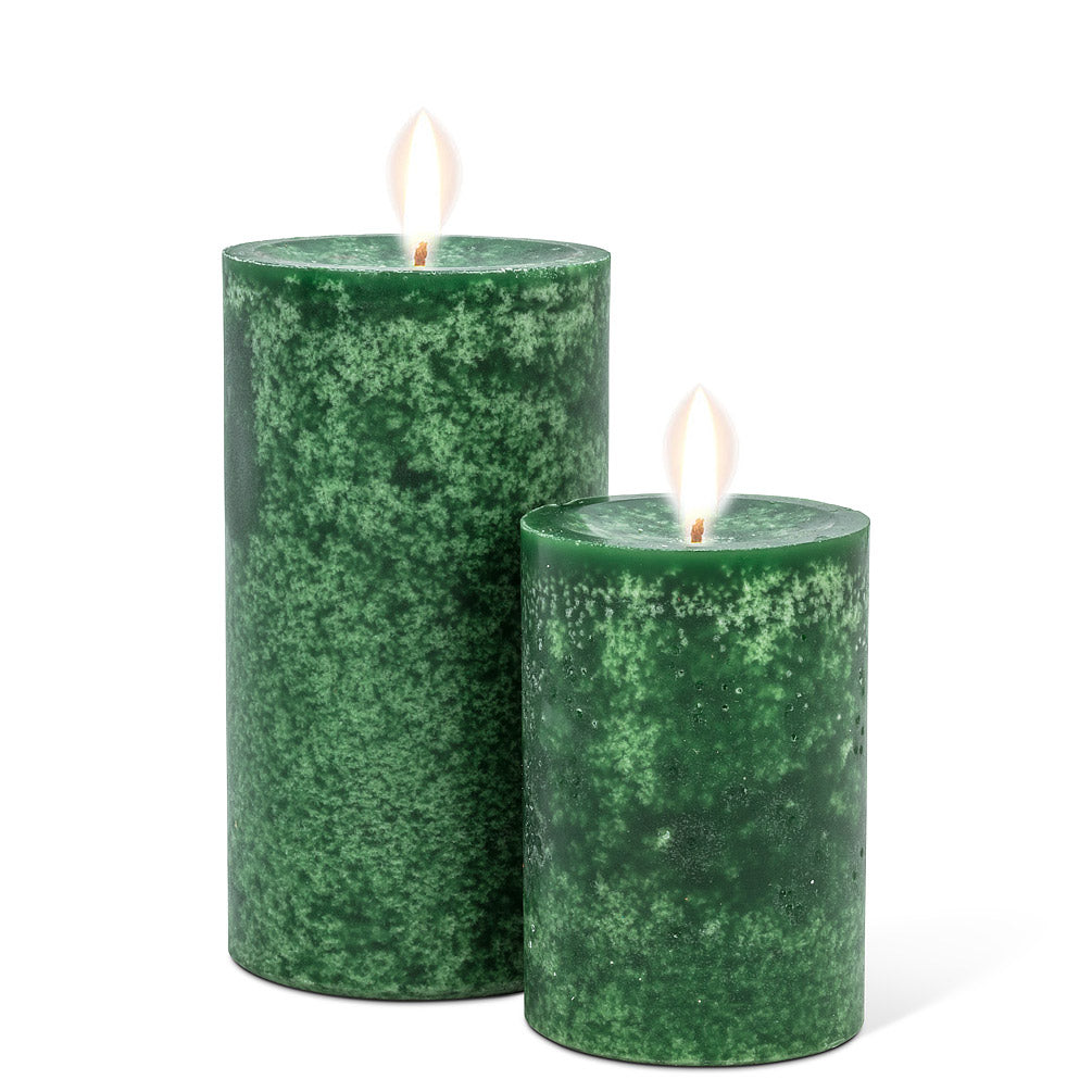 Med Green Pillar Candle 5""