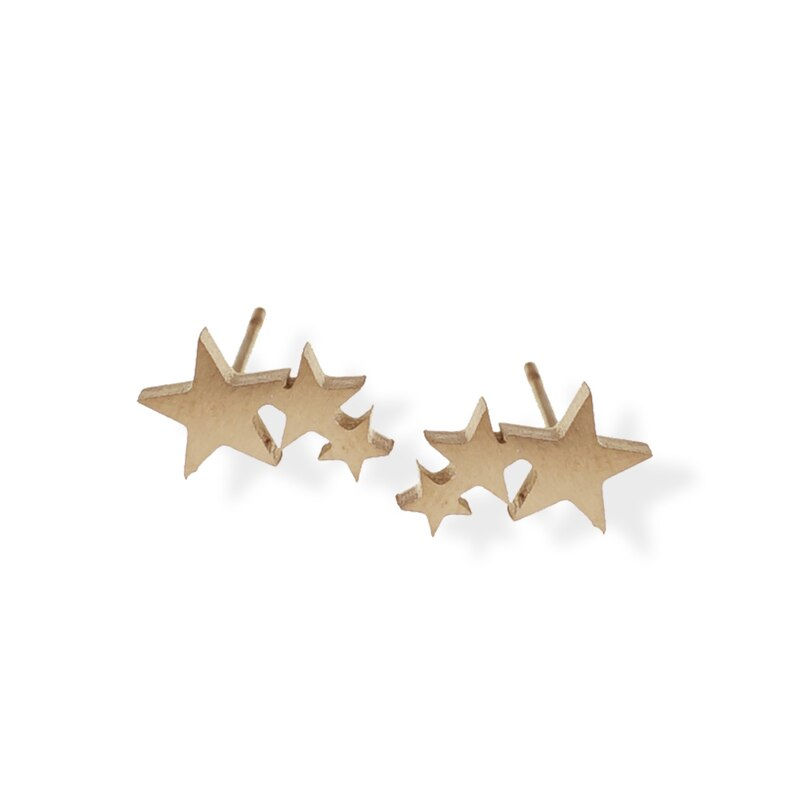 Star Studs in Rose Gold