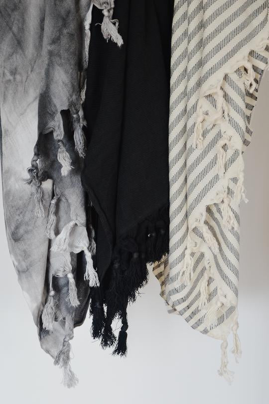 Oversized Turkish Towel-Abyss Stripe