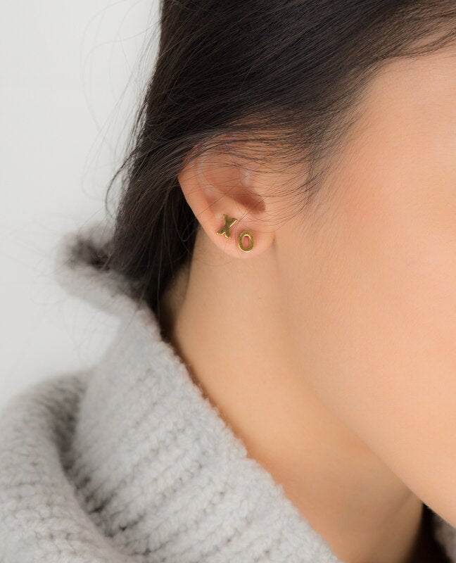 XO Earring in Rose Gold