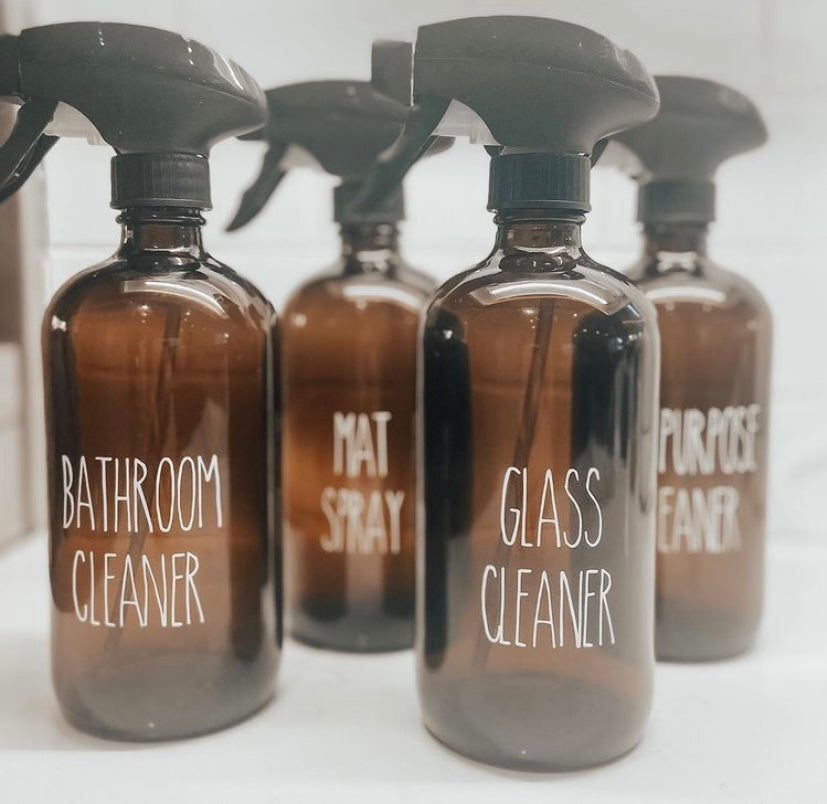 Amber Glass Cleaner Spray Bottle