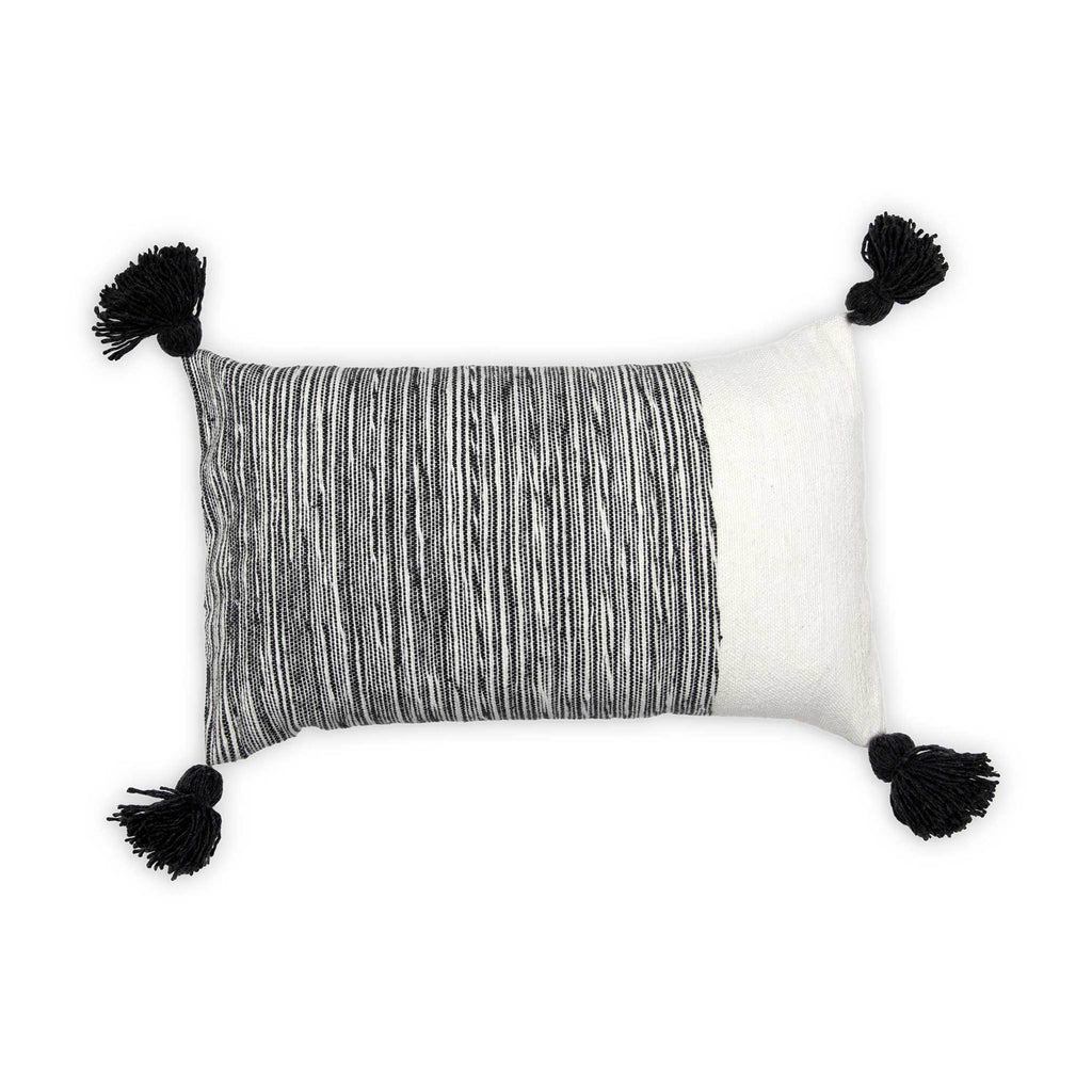 Moroccan Pillow Dipped Charcoal 12x20