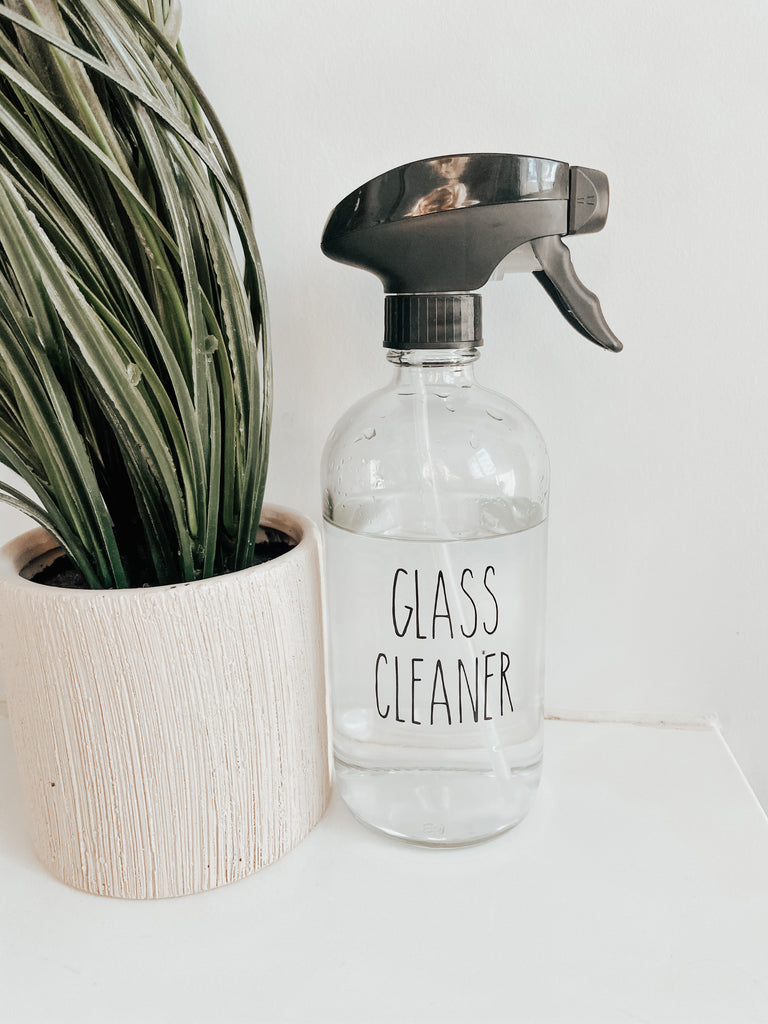 Clear Glass Cleaner Spray Bottle