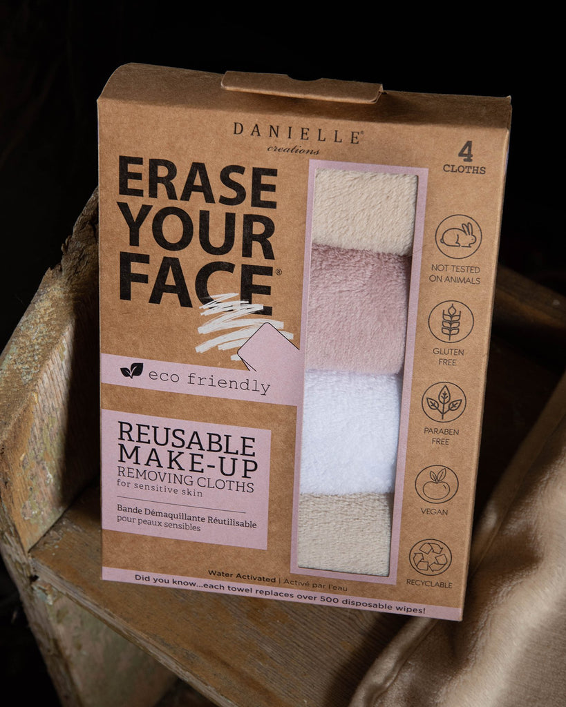 Erase Your Face 4 Pack - Makeup Removing Cloths