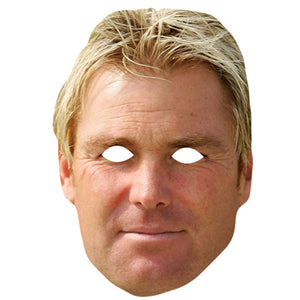 Shane Warne Australian Cricketer Card Face Mask Fancy Dress Party