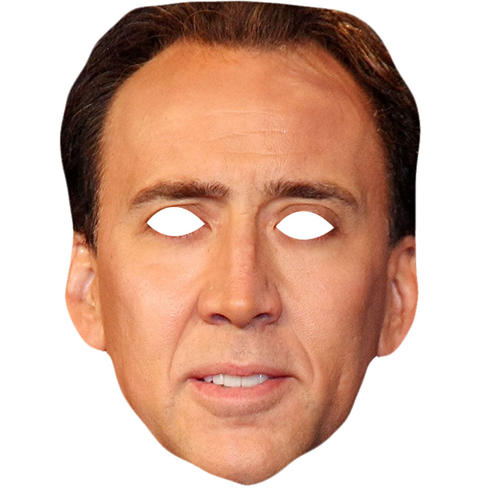 Nicolas Cage Celebrity Face Mask Fancy Dress Party