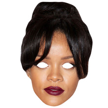 Load image into Gallery viewer, Rihanna Curly Hair Celebrity Card Face Mask Fancy Dress Party