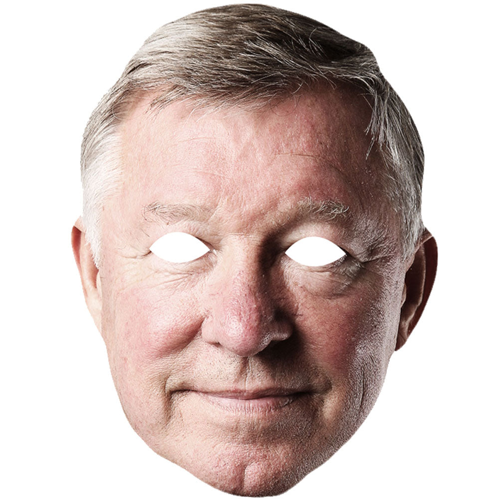 Sir Alex Ferguson Football Manager Manchester United Celebrity Card Face Mask