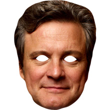 Load image into Gallery viewer, Colin Firth Celebrity Card Face Mask Fancy Dress Party