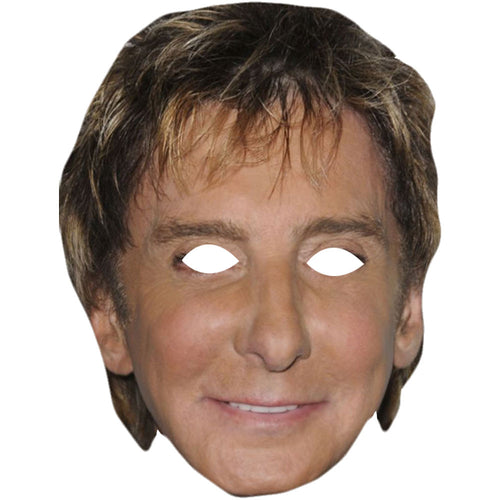 Barry Manilow Celebrity Card Face Mask Fancy Dress Party
