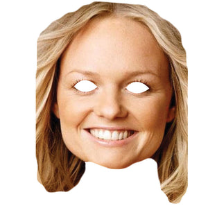 Emma Bunton Spice Girls Celebrity Card Face Mask Fancy Dress Party - PhotoFaceMasks - Novelty Costume Celebrity Face Masks For Sale UK