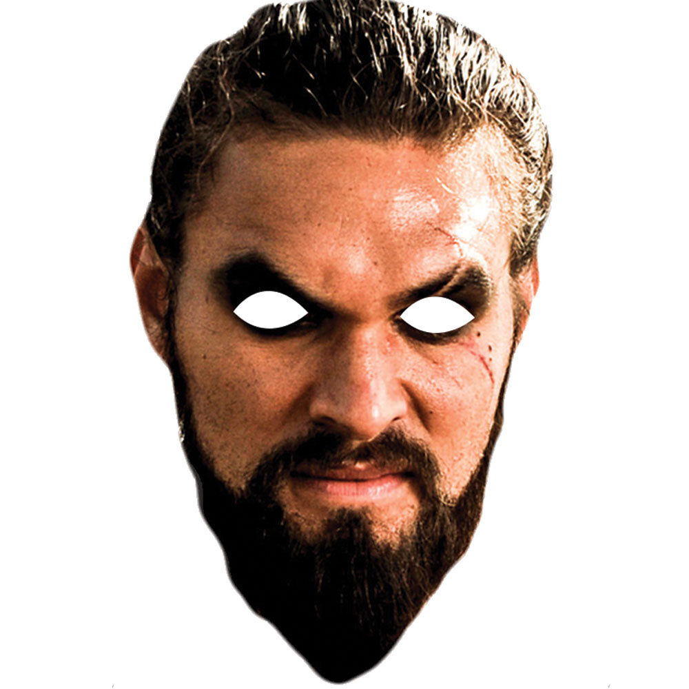 Jason Momoa Game Of Thrones Khal Drogo Celebrity Face Mask - PhotoFaceMasks - Novelty Costume Celebrity Face Masks For Sale UK