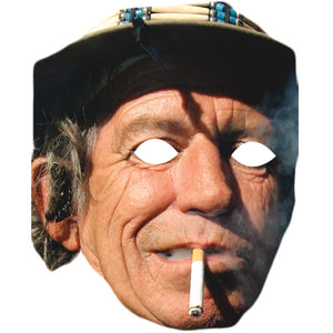 Keith Richards The Rolling Stones Celebrity Face Mask Fancy Dress - PhotoFaceMasks - Novelty Costume Celebrity Face Masks For Sale UK
