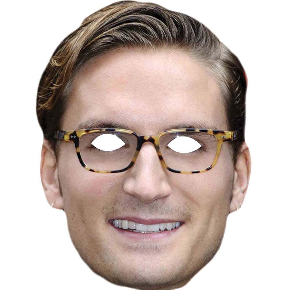Ollie Proudlock Made In Chelsea Celebrity Card Face Mask - PhotoFaceMasks - Novelty Costume Celebrity Face Masks For Sale UK