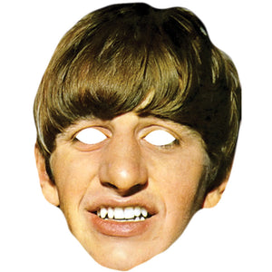 Ringo Starr Celebrity Card Face Mask Fancy Dress Party - PhotoFaceMasks - Novelty Costume Celebrity Face Masks For Sale UK