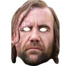 Load image into Gallery viewer, Rory Mccann Sandor Clegane Game Of Thrones Celebrity Card Face Mask - PhotoFaceMasks - Novelty Costume Celebrity Face Masks For Sale UK