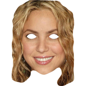 Shakira Celebrity Card Face Mask Fancy Dress Party - PhotoFaceMasks - Novelty Costume Celebrity Face Masks For Sale UK