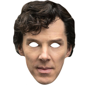 Benedict Cumberbatch Sherlock Holmes 2nd Edition Celebrity Face Mask - PhotoFaceMasks - Novelty Costume Celebrity Face Masks For Sale UK