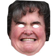 Load image into Gallery viewer, Susan Boyle Celebrity Card Face Mask Fancy Dress Party - PhotoFaceMasks - Novelty Costume Celebrity Face Masks For Sale UK