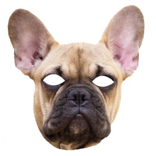 Load image into Gallery viewer, French Bulldog 1st Edition Dog Card Animal Face Mask Fancy Dress - PhotoFaceMasks - Novelty Costume Celebrity Face Masks For Sale UK