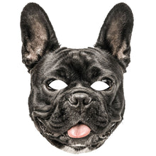 Load image into Gallery viewer, French Bulldog 2nd Edition Dog Card Animal Face Mask Fancy Dress - PhotoFaceMasks - Novelty Costume Celebrity Face Masks For Sale UK