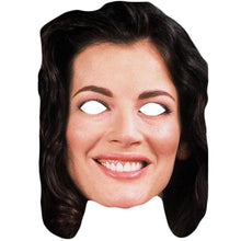 Load image into Gallery viewer, Nigella Lawson Celebrity Cook Card Face Mask Fancy Dress Party
