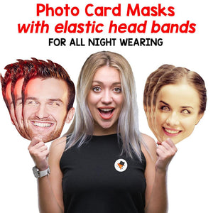 Emilia Clarke Celebrity Card Face Mask Fancy Dress Party - PhotoFaceMasks - Novelty Costume Celebrity Face Masks For Sale UK