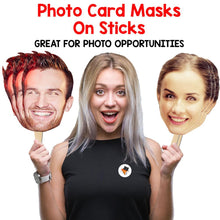 Load image into Gallery viewer, Robbie Williams Take That Celebrity Card Face Mask Fancy Dress Party