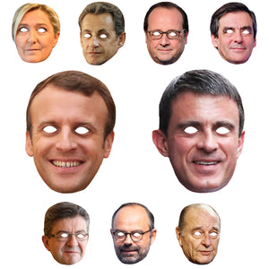 Celebrity Masks France Politicians Pack For Costume Party Multi Packs Wholesale