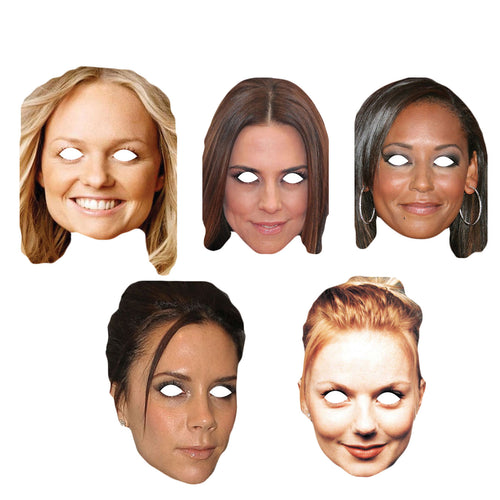 Celebrity Masks Spice Girlss Pack For Adults Costume Party Multi Packs Wholesale