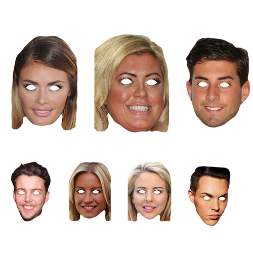 Celebrity Masks The Only Way Is Essexs Pack Costume Party Multi Packs Wholesale