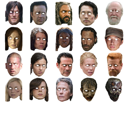 Celebrity Masks The Walking Deads Pack For Costume Party Multi Packs Wholesale