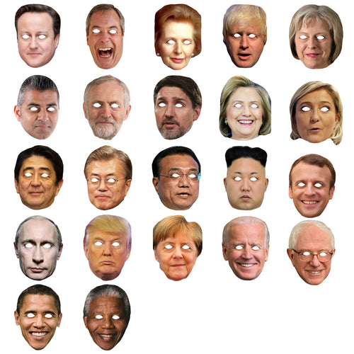 Celebrity Masks World Politicians Pack For Costume Party Multi Packs Wholesale