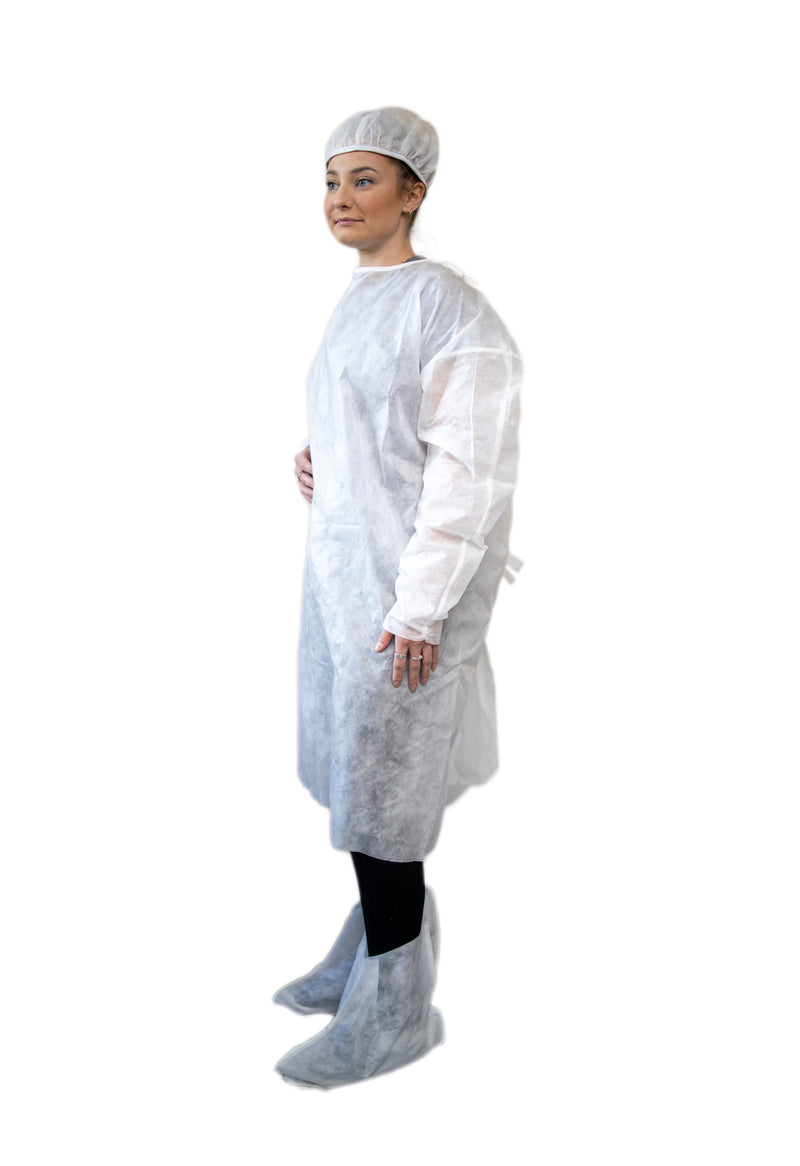 Healthcare Lightweight Polypropylene Isolation Gown (Case of 200)
