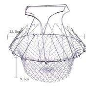 Foldable Stainless Steel Folding Frying Basket - Go Trendyz