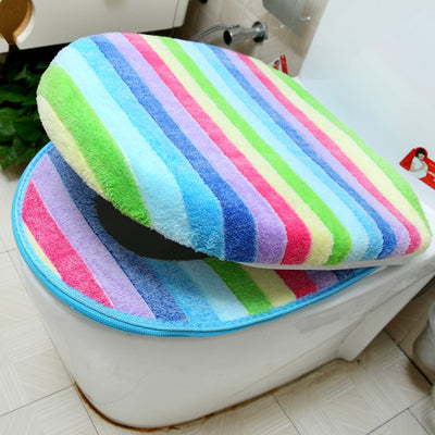 Rainbow Color Toilet Cover Set - Go Trendyz