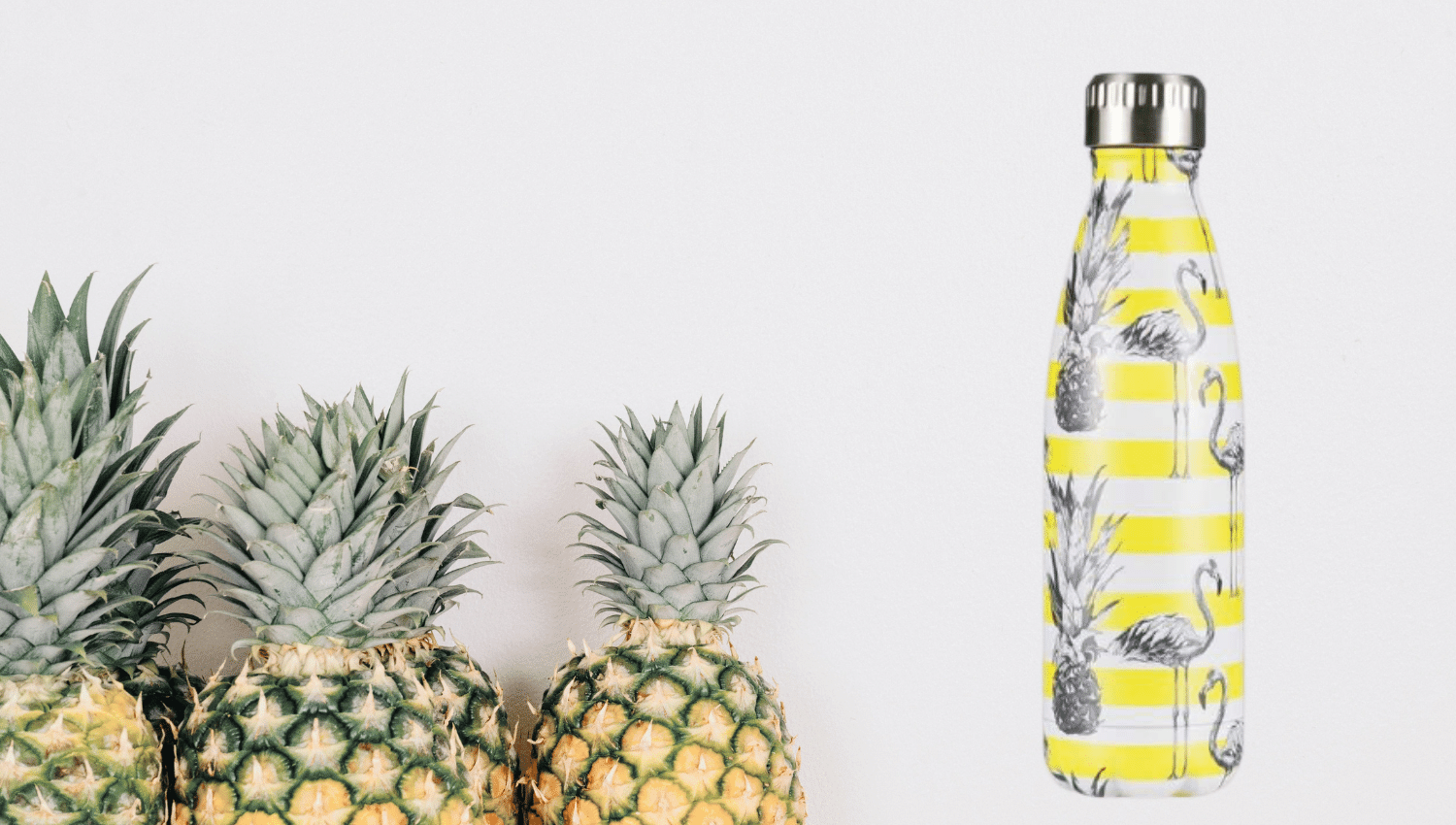 bouteille isotherme motif ananas