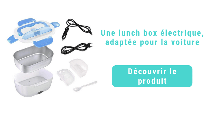 Lunch box chauffante bleu compartiment inox